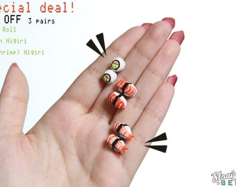 Sushi Earrings Sushi Roll Maki