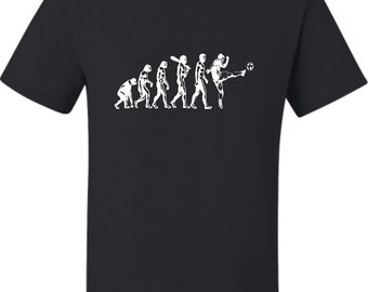 Adult Evolution Of Soccer Evolution Of Man T-Shirt