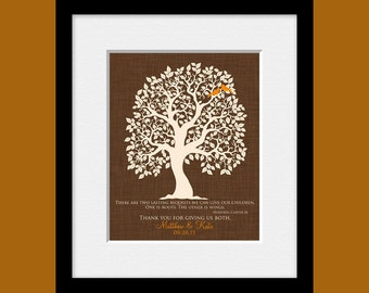 Roots and Wings Quote, Parents Gift, Personalized Thank You Gift for Parents, Anniversary Gift, Brides Parent Gift, Grooms Parent Gift,