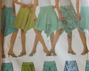 Misses' Knit Skirts with Hemline Variations in Sizes 4 to 10 All 11 Uncut/FF Simplicity Sewing Pattern 4672