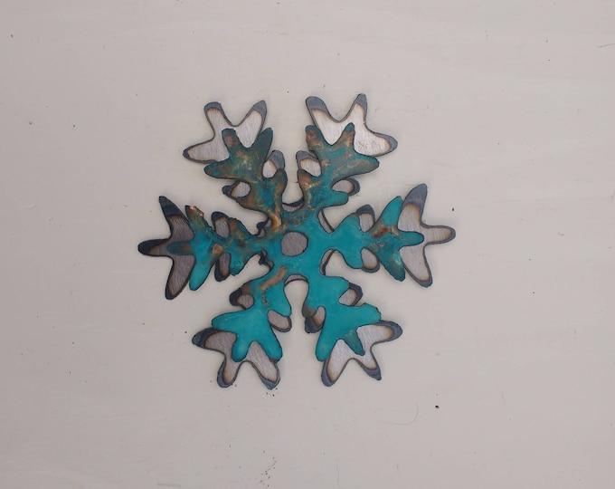 Patina Snowflake Mini Sculpture