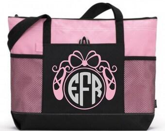 Girl Dance Tote, Personalized Dance Bag, Custom Dance Bag, Tween Dance bag, Teen dance bag