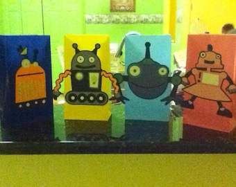 Cute Robot Party Bags
