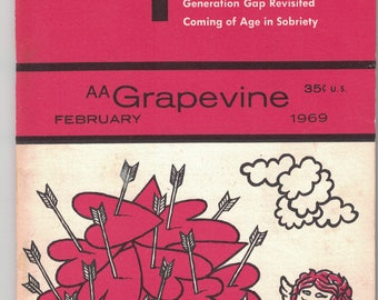 Grapevine, February 1969, Magazine of Alcoholics Anonymous, Support, Encouragement, Addiction, Recovery.