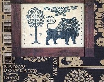 Harry Tyler's Lion : Cross Stitch Pattern by Heartstring Samplery