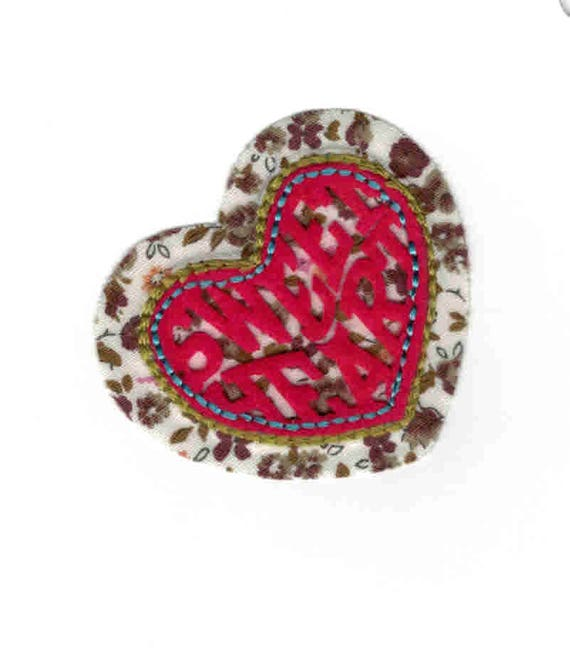 "Patch fusible trend pattern ""heart"""