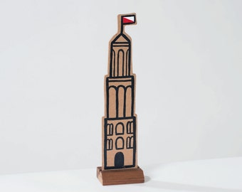 Wooden Dom tower. Tribute to Utrecht. Love Holland!