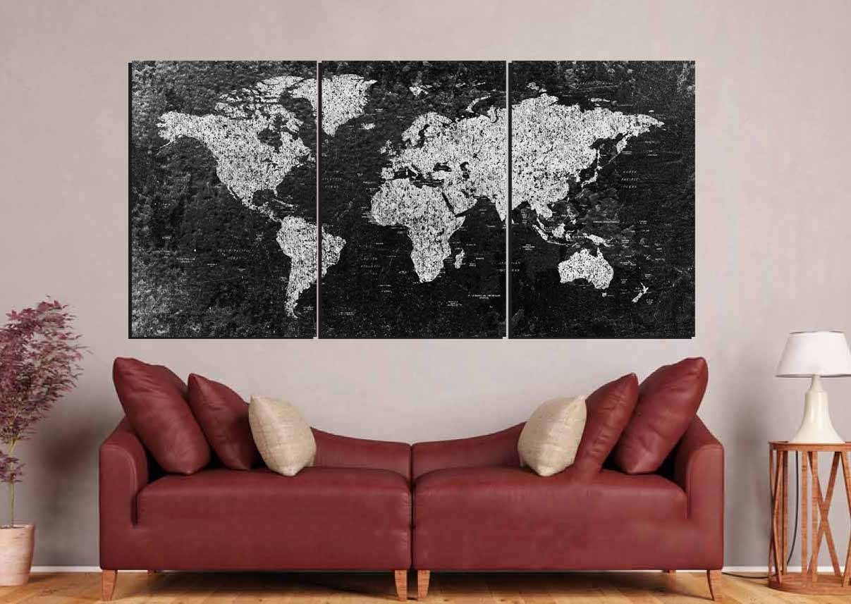 World map large black and white world mapworld map canvas world map large black and white world mapworld map canvas abstract world map world map wall artworld map art black and white map art gumiabroncs Image collections