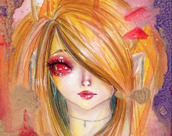Original Art, Watercolor Illustration, Pop Surrealism, [Emerged]