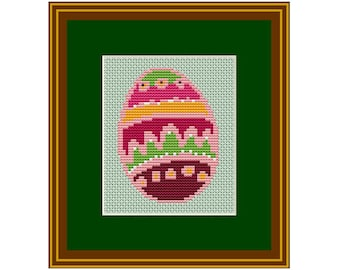 Easter Eggs Cross Stitch Pattern - PDF CHART easy pattern/  holiday pattern Instant Download/DIY Easter decor