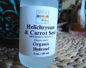 Hydrosol - Organic Helichrysum & Carrot Seed Hydrosol - Cicatrizant, Regenerative, Hydrating Toner - All Skin, All Hair Types - 100% Organic