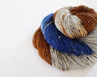 Stoneybatter - House Wren - 85/15 superwash merino/ nylon tweed sock yarn