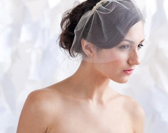 Mini tulle birdcage veil, tulle veil,mini tulle veil - ready to ship - FREE SHIPPING*