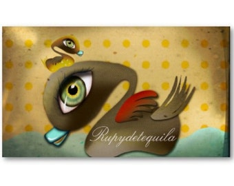 100 custom business cards - baby duck