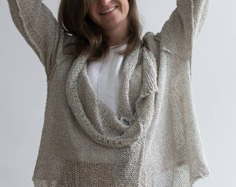Light Knitted Linen Cardigan