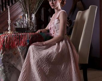 Textured Baby Pink Full Skirt