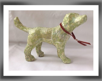 Decoupage miniature dog, Decopatch dog, Dog lovers gift, Whimsical dog, Animal gifts, Dog ornament