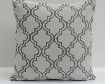 Off White and Grey Pillow, Throw Pillow Cover, Decorative Pillow Cover, Cushion Cover, Pillowcase, Accent Pillow, Toss Pillow, Sheer