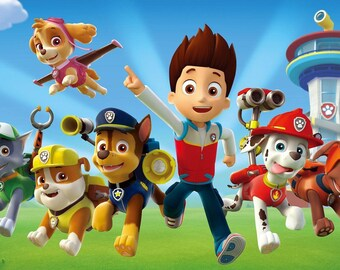 Digital Invites or Signs Of Nick Jr. Or Disney Jr. Themed Cartoons