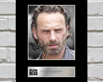 Andrew Lincoln - Rick Grimes 10x8 Mounted Signed Photo Print The Walking Dead