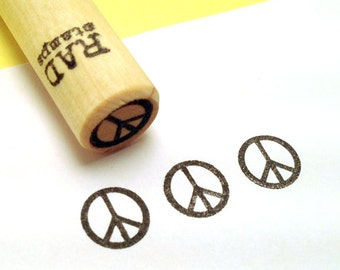 Peace Sign Rubber Stamp
