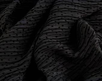 Chiffon black with little dots