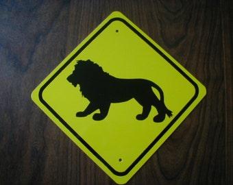 LION  Zoo animal aluminum mini sign     Free Shipping