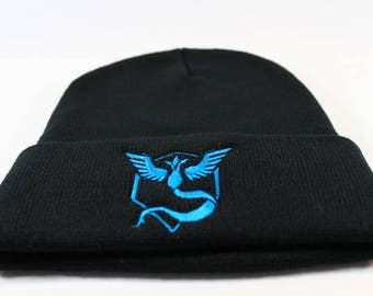Pokemon Go Team Mystic Embroidered Pokemon Go Beanie