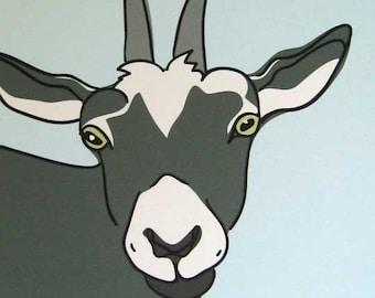 Daisy Mae - a Goat in the Farm Series Art Print