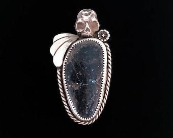 New Lander Turquoise + Skull Ring