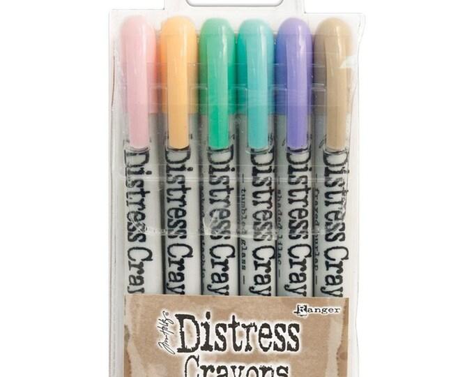Ranger Tim Holtz Distress Crayons - Set # 5 - Water Reactive Pigments