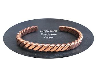 Copper Bracelet Twisted Wire