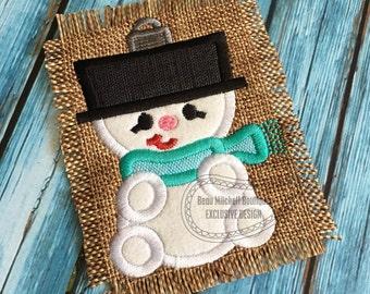 Snowman Ornament applique