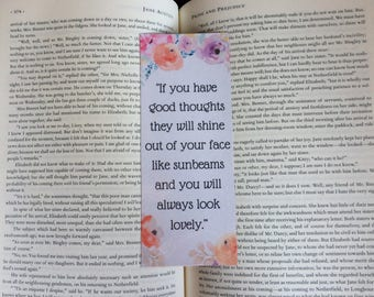 Roald Dahl Floral Quote Bookmark