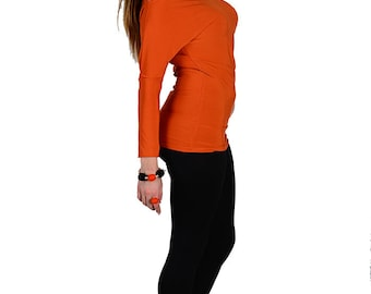 Orange blouse -  dress with removable strap