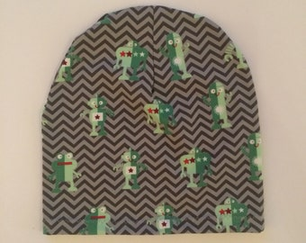 Slouchy Toque | Slouchy Beanie | Baby and Toddler | Chevron Robots