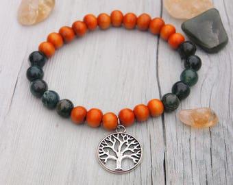 Druid - agate gemstone bracelet, healing bracelet, earth magick