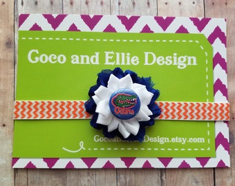 university of florida gators headband-gators headband-florida gators headband-florida gators baby gift-florida gators girl/gators newborn