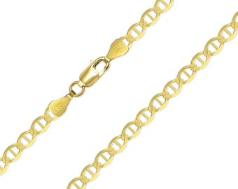 "14K Solid Yellow Gold Mariner Necklace Chain 4.4mm 18-24"" - Anchor Link"