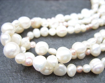 Wonderful Extra Long Strand of Freshwater Pearls - Who Says Pearls Are Boring?