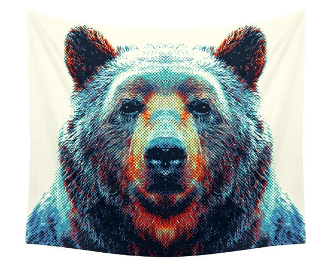 Bear Tapestry - Colorful Animals