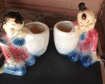 Chinese vase set