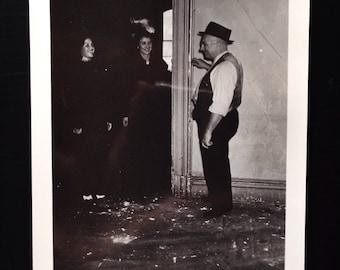 Original Antique Photograph The Handyman