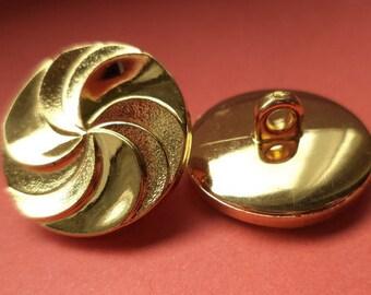 6 buttons gold 21mm (5072) button jacket buttons