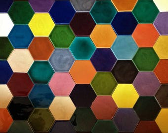 1 x Hexagonal tile in a choice of 55 colours