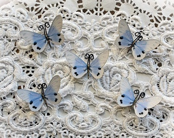 Reneabouquets Tiny Treasures Butterfly Set -  Sweet Dreams Premium Paper Butterflies In Cornflower Blue