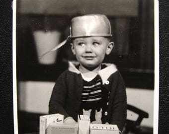Pot Head... 1940's Vintage Photo... Original Vintage Snapshot Photograph