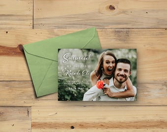 Personalized Elopement Announcement Photo Card Printable Custom Digital Download 4x6""