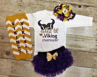 Minnesota Vikings, Vikings Football Outfits, Girls Viking Outfit, GIrls Football Outfit, Minnesota Vikings Baby, Vikings Football, Vikings