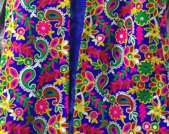 Ethnic Colourful Silk Vest with Sequin
